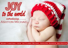 Christmas Birth Announcement Christmas by PinkInkPartyBoutique, $8.99