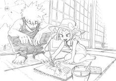 Bakugou and Mahoro - Boku no hero academia Buko No Hero Academia, My Hero Academia Memes, Hero Academia Characters, My Hero Academia Manga, M Anime, Fanarts Anime, Anime Art, Character Art, Character Design