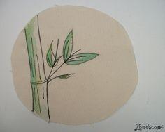 My Own Landscape Dreams: Meus últimos bordados - bambus e como fazer um enfeite para mesa com tecido e feltro.