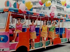 A colorful tram staffed by colorfully dressed young women was ready to give AstroWorld visitors a lift from the Astrodome parking lot, across Loop 610 via Judge Roy Hofheinz's private bridge to the park's front gates. Photo: Six Flags AstroWorld Six Flags Houston, Houston Tx, Astroworld Houston, Comic Book Girl, H Town, Texas History, 90s Kids, Worlds Of Fun, Wonders Of The World