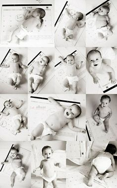 Cute way to do monthly baby photos - calendar background