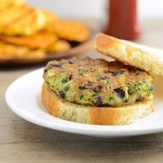 Zucchini and black bean vegan burgers - These Veggie Burgers will change your life!  4 ingredients, 10 minutes, high in protein and fiber, and about 100 calories each!!!!!