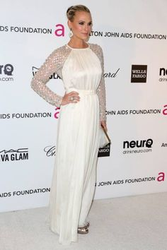 Molly Sims in Temperley London at the 2013 Elton John's Oscar Viewing Party.
