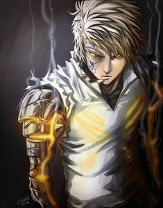 One punch [gorgeous Geno] Genos Wallpaper, Man Wallpaper, Fanarts Anime, Anime Manga, Manga One Punch Man, Saitama One Punch Man, Super Anime, Photographie Portrait Inspiration, Girl And Dog