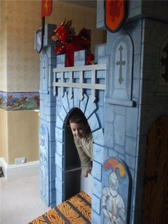 Children's Hand Painted Majestic Castle Bed