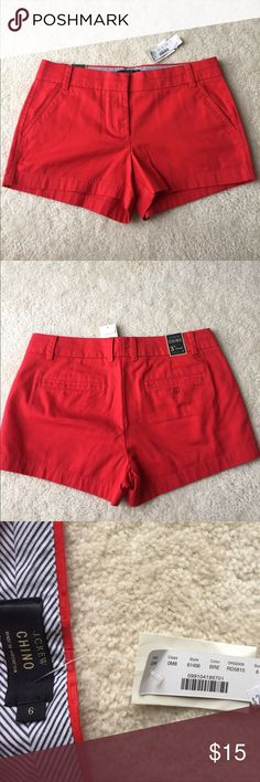 "J. Crew 3"" Chino Shorts J. Crew 3"" inseam Chino Shorts! Great for the summer time to wear with t-shirts, tank tops, or off-the-shoulder shirts! No stains and brand new with tags! Never worn! J. Crew Shorts"