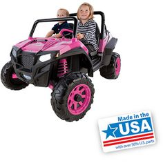 Peg Perego Polaris Ranger RZR 900 12-Volt Battery-Powered Ride-On, Pink