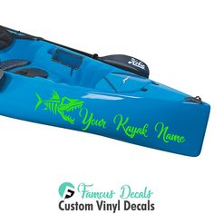 Outdoor Sports Vinyl Die-Cut Peel N/' Stick Decals Native WaterCraft Kayak II