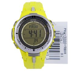 Casio ProTrek Yellow Tough Solar Mens Watch PRW-3000-9BDR PRW3000 Lowest price free shipping to USA Singapore Thailand Hong Kong New Zealand buy casio