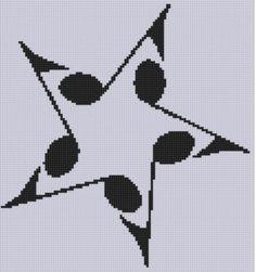 Music Star 2 Cross Stitch Pattern