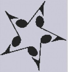 Music Star 2 Cross Stitch Pattern