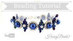 Beginners Bracelet Dear Diamonds *(4)* Beading Tutorial by HoneyBeads1 (...