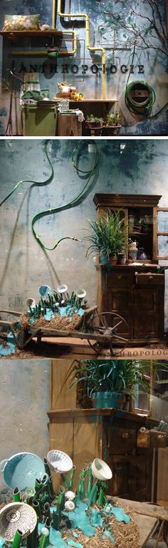 Visual Merch | Window Display | Garden season: