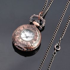 Vintage Carved Bronzy Pocket Watch Antique Style 9. (me and Pocket Watches ?)