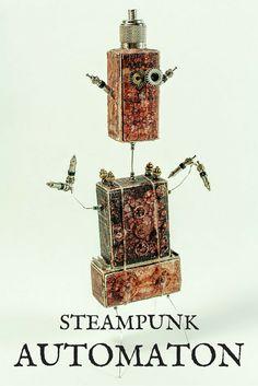 steampunk assemblage, mixed media art