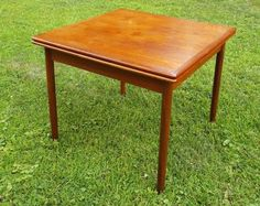 Vintage Danish Modern Teak Square Dining Table    SOLD