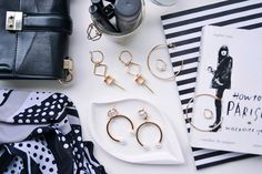 Earrings on Jeans And Roses Blog: Zara and H&M. #jewelry #flatlay