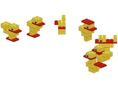 Have fun with these great lego examples for all ages. The lego instructions are explained step by step. Build your highest towers and fastest cars with these examples. Lego Duplo, Kids Store, Toy Store, Lego Therapy, Easter Party, Easter Lego, Lego Club, Easter Celebration, Lego Instructions