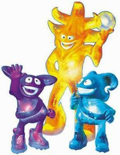 Ato, Kaz y Nik (Corea - Japón 2002)Las mascotas de Corea - Japón 2002 fueron conocidas como The Spheriks. Ato (amarillo) era el entrenador y...