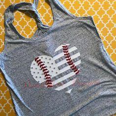 Softball Mom Shirt Baseball Shirts For Women American Flag Heart Baseball T-Ball America's Favorite Pasttime Glitter Laces Tank Top Softball Mom Shirts, Baseball Shirts, Sports Shirts, Baseball Bags, Baseball Stuff, Softball Cheers, Baseball Display, Softball Crafts, Softball Bows