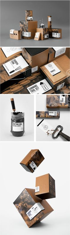 Packaging Design Concept: The Good Store - Gardening Products Brand Identity Design, Graphic Design Branding, Corporate Design, Label Design, Retail Design, Package Design, Cool Packaging, Brand Packaging, Organic Packaging