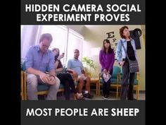 An interesting experiment on herd behavior. The unspoken rules (norms) govern many aspects of behavior in a society. Every day we conform in so many small ways, but we aren't always aware of it. Do you remember the last time you tried to dress up or dress down to fit in with your new schoolmates, colleagues or the local people,...