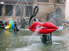 The Stravinsky fountain at Beaubourg Jean Tinguely, Banksy, Georges Pompidou Centre, Paris, Nouveau Realisme, 60s Art, Fountain Design, French Sculptor, Outdoor Art