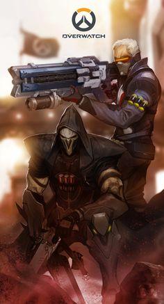 Reaper and Soldier 76 - Overwatch | turpentine-08 on DeviantArt