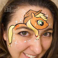 Maquillaje infantil-Applejack