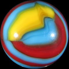 "Awesome vintage Peltier ""Superman"" marble, 5/8""."