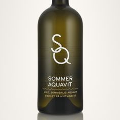 New aquavit bottle celebrating Scandinavian summer