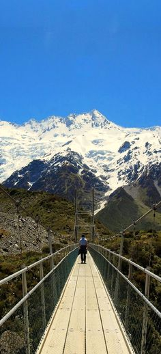 The Hooker Valley Track is a popular hiking trail near Mount Cook, the tallest Mountain in New Zealand.