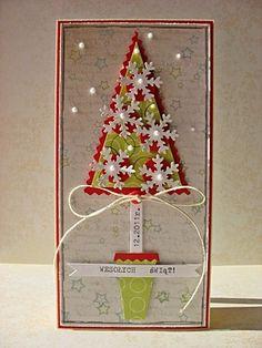 scrapbooking - kartki okolicznościowe-Świąteczne drzewko