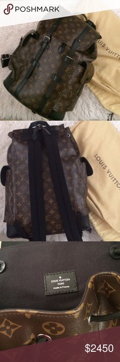 Louis Vuitton Christopher PM Backpack 100% authentic. Comes with a free authentication by Posh before it gets sent to you. Retails $2780+tax & comes with a dustbag only. Flaw: minor scuffs on leather but not as noticeable (was due to storage) otherwise it's in excellent condition. It has adjustable leather straps, a leather top handle, a flap opening, a press stud & drawstring closure, 2 side pockets, an internal iPad pocket & zip pocket, & 2 internal flat pockets. Dims: 16.1x5.1x18.5 PRICE…