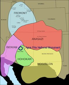 Map Of Ancient Southwestern Civilizations In The United States Arizona Hikes Travels