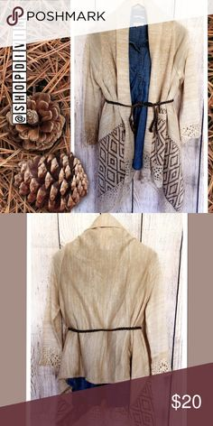 Windsor Draped Cardi New with tags size m/l. Sleeves are 3/4. No flaws. WINDSOR Sweaters