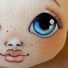 No photo description available. Painting a doll face This Pin was discovered by Joa Comments in Topic