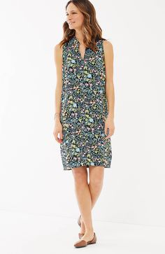 sleeveless printed shirtdress | J.Jill