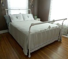 Vintage Iron Sleigh Bed Queen By Yesterdaynextweek On Etsy 40000
