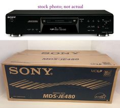 NOS Sony Mini Disc Deck Player/Recorder MDS-JE480 Production Studio #Sony