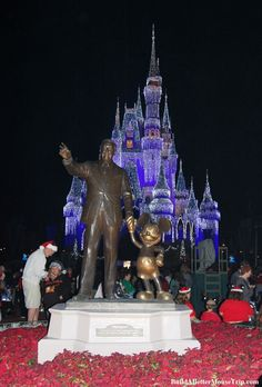 Partners Statue in front of Cinderella's Castle in the Magic Kingdom at Disney World.