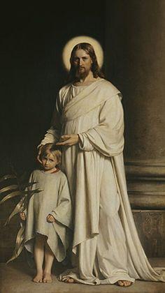 Christ and a Boy by Carl Heinrich Bloch (1834-1890) Danish