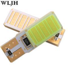 1 개 COB T10 오류 W5W Led 자동 주차 빛 인테리어 번호판 Sidemarker 전구 화이트 블루 레드 Led 자동차 Canbus