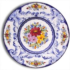 Portuguese majolica painted plate