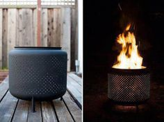 Old washing machine drums make perfect fire pits