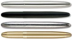 Fisher Bullet Space Pen. These are the best. Will write on anything, and small enough to stash in a wallet or pocket.
