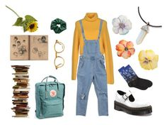 """""""art hoe aesthetic"""" by alphabetboyx ❤ liked on Polyvore featuring HOT SOX, Dr. Martens, Bea Yuk Mui, Crate and Barrel, Fjällräven and Moscot"""