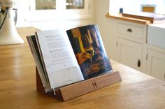 View the exquisite personalised wooden bookstand from Make Me Something Special - providers of unique personalised gifts to make a difference.