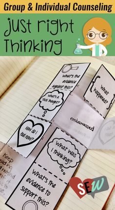 Counseling activities for students in grades 1-4 that need practice identifying negative thinking errors, how to spot them, and ways to use realistic (Just Right) thinking. The workbook focuses on using a science and lab theme to make the concept more engaging and concrete to students. Students know that scientists use facts and a process to come to conclusions. Social Emotional Workshop