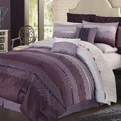 daisy fuentes® Ombre Lace 4-pc. Comforter Set - King